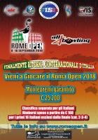 Rome Open 8 - 16 settembre 2018
