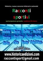 """Historica, nuovo concorso letterario nazionale """"Racconti Sportivi"""" partecipazione gratuita scadenza 25 marzo"""
